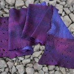 Blauw-paarse sjaal